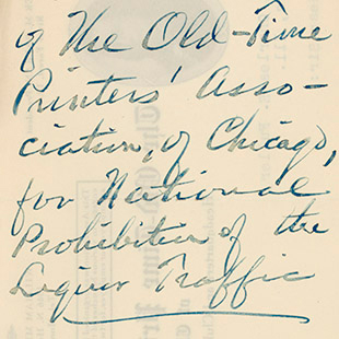 Letter in Favor of Prohibition