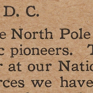 Postcard on Discovery of North Pole