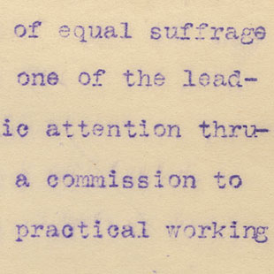 Commission to Investigate Equal Suffrage
