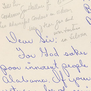 Letter Responding to the Violence in Selma