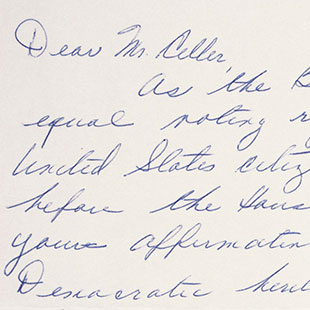 Letter Supporting Voting Rights Act