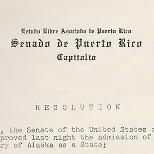 Puerto Rican Senate Resolution on Alaska Statehood