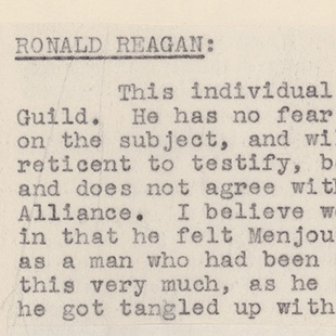 Report on Ronald Reagan