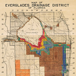 Map of Florida Everglades Drainage District