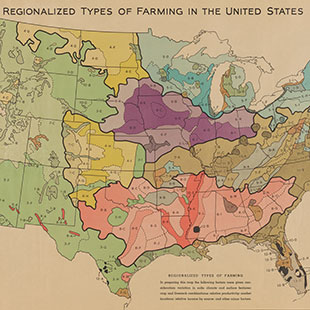 Regionalized Types of Farming in the United States