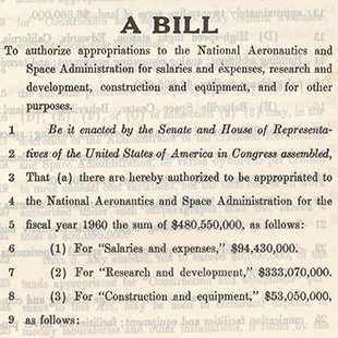 NASA Appropriations Bill