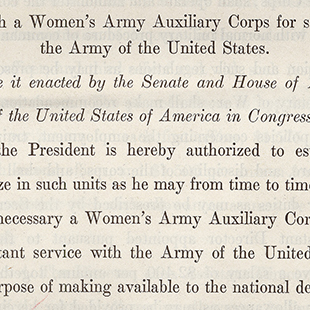 Women's Army Auxiliary Corps Bill