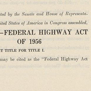 Federal Highway Act of 1956