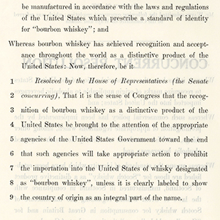 Designating Bourbon Whiskey