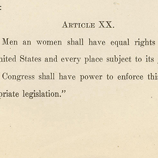 Proposing an Equal Rights Amendment