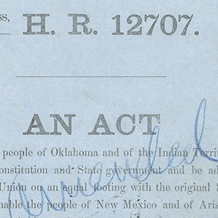 Oklahoma Statehood Bill