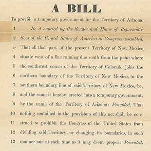 Government for Arizona Territory