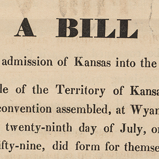 Kansas Statehood Bill