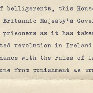 Treatment of Irish Prisoners