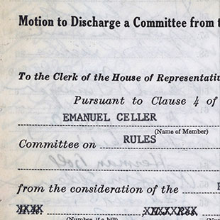 Discharge Petition for the Civil Rights Act of 1964
