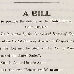 The Lend–Lease Act of 1941