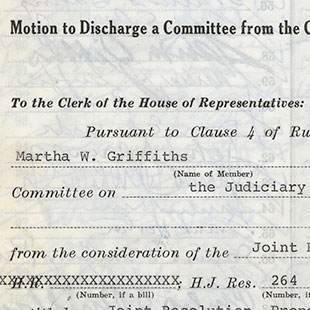 Discharge Petition for the Equal Rights Amendment