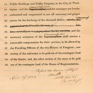 Bill Establishing the United States Capitol Police
