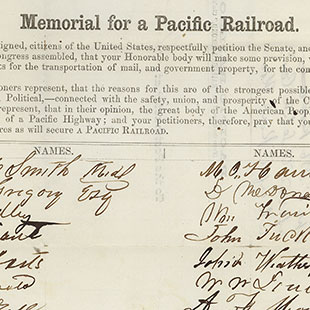 Memorial for a Pacific Railroad
