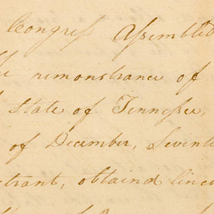 Petition of Andrew Jackson