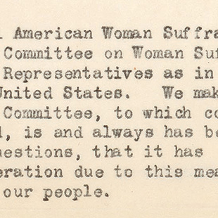 Petition for Woman Suffrage Committee