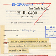 On the Record: Featured Documents of the House of Representatives
